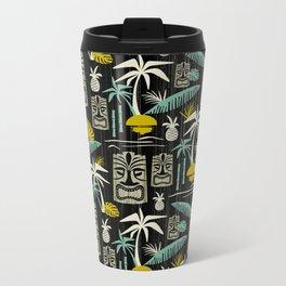 Island Tiki - Black Metal Travel Mug