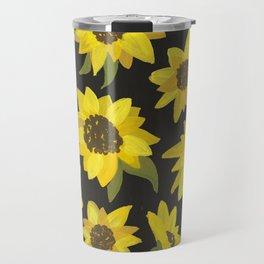 Sunflowers Acrylic on Charcoal Travel Mug