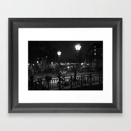 Amsterdam by Night Framed Art Print