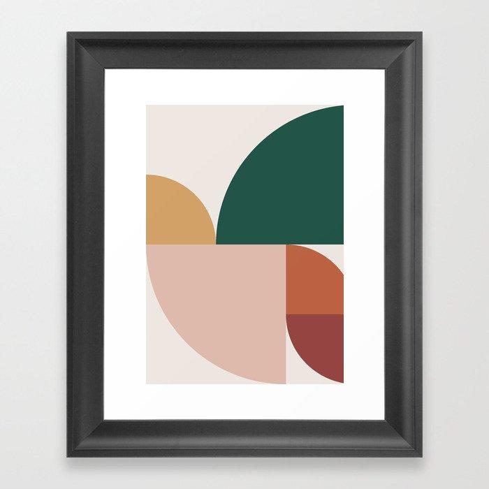 Abstract Geometric 11 Gerahmter Kunstdruck