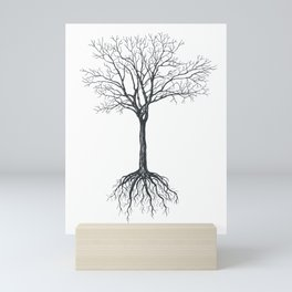 Tree without leaves Mini Art Print