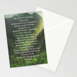 Psalms 23 Lords Prayer Stationery Cards