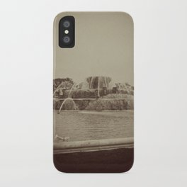 Chicago Buckingham Fountain Sepia Photo iPhone Case