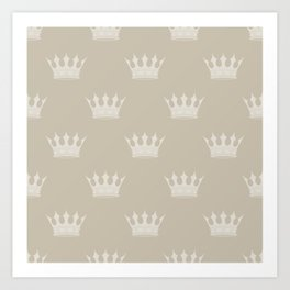 George Grey with Pale Grey Crowns Art Print