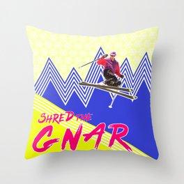 Shred the GNARski 04 Throw Pillow
