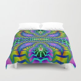 Tribal Rainbow Lotus Duvet Cover