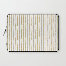 Gold & Silver Sparkle Lines Laptop Sleeve