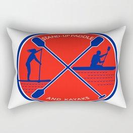 Stand-up Paddle and Kayak Circle Retro Rectangular Pillow