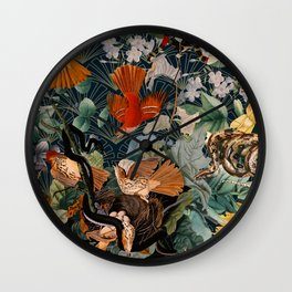 Birds and snakes Wall Clock