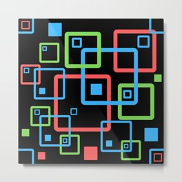 multicolor geometric squares Metal Print