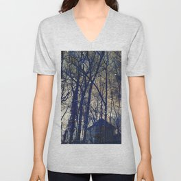 Tree Old House Unisex V-Neck
