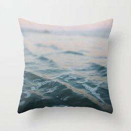 Blue Underneath Throw Pillow