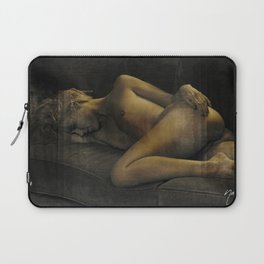 Julie Darling 0870 Rustic - Nude Nue ~ Textured Vintage  ~ Bodyscape of a Woman Laptop Sleeve