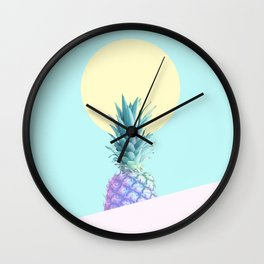 Tropical Pineapple Sunkissed #decor #popart #minimalist Wall Clock