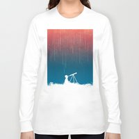 star Long Sleeve T-shirts featuring Meteor Rain (light version) by Picomodi