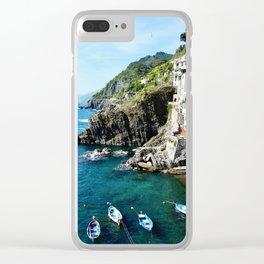 Riomaggiore Harbor Clear iPhone Case