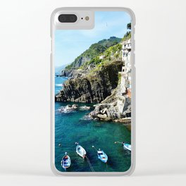 Riomaggiore Harbor Clear iPhone Case