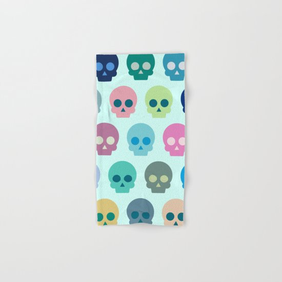 Colorful Skull Cute Pattern Hand & Bath Towel