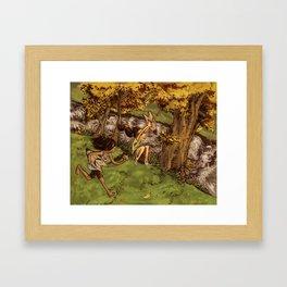 River Wolves Framed Art Print