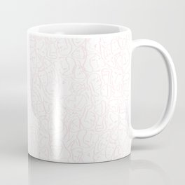 Elios Shirt Faces in Pale Pink Outlines on White CMBYN Coffee Mug