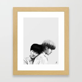 안녕히 주무세요  |  Kai D.O. Framed Art Print