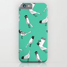 Bird Print - Turquoise iPhone 6s Slim Case