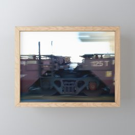 Train Tires Framed Mini Art Print
