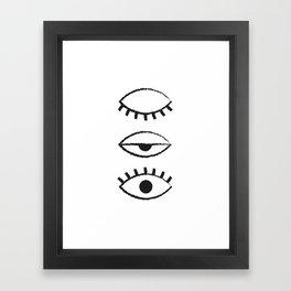 Eyelid Framed Art Print