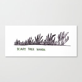 Scary Tree Hands Canvas Print