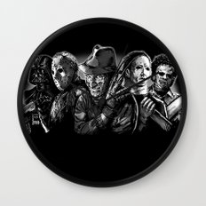 Freddy Krueger Jason Voorhees Michael Myers leatherface Darth Vader Blackest of the Black Wall Clock