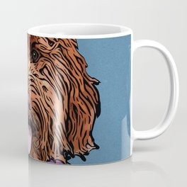 Icons of the Dog Park: Labradoodle Design in Bold Colors for Pet Lovers Coffee Mug