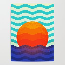 019 OWLY swimming at the sunrise Poster