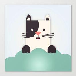 Cat Watching Canvas Print