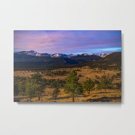 Rocky Mountain High - Moonlight Drenches Colorado Landscape Metal Print