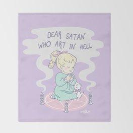 Dear Satan Throw Blanket
