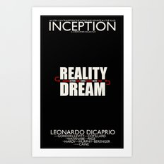 Inception Poster Art Print