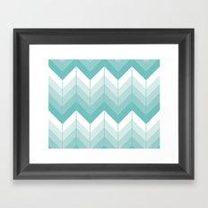 Herringbone - Teal Framed Art Print