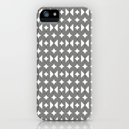 Piece of Pie Black on White iPhone Case