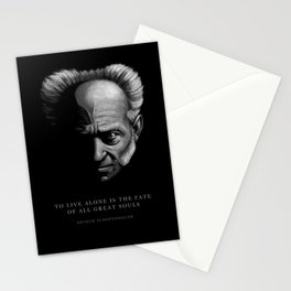 ARTHUR SCHOPENHAUER QUOTE: To live alone Stationery Cards