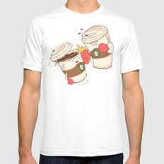 Strong Coffee White MEDIUM Mens Fitted Tee