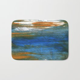 Abstract watercolor Bath Mat