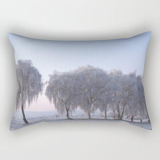 Winter dreams with a birch tree Rectangular Pillow