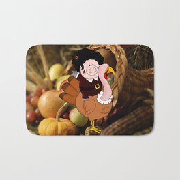 Thanksgiving turkeys Bath Mat