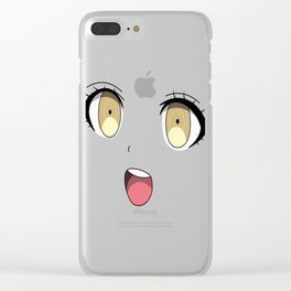 Anime Face Clear iPhone Case