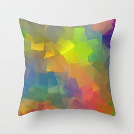 Abstract cubism -2- Throw Pillow