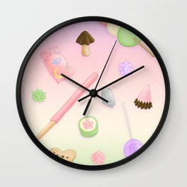 Weeaboo Candy Wall Clock