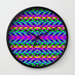 Rainbow Scaffolding Wall Clock