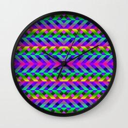 Rainbow Scaffolding Wall Clock