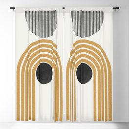 Abstract Rainbow Graphic Blackout Curtain