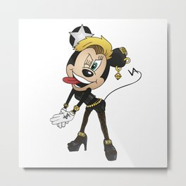 Miley Mouse Metal Print